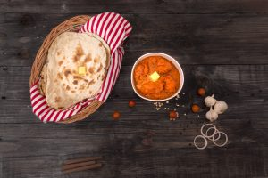 butter chicken gravy with naan